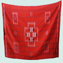 Nappe 12-couverts-rouge